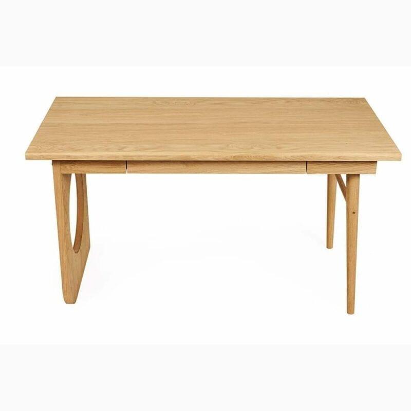 Bau kirjoituspöytä, lev. 140, syv.70 ja kork. 75 cm, tammea, 1 vetolaatikko, Woodman.