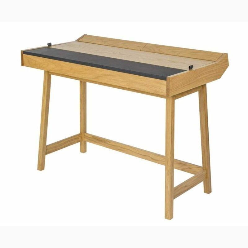 Brompton kirjoituspöytä, lev.108, syv.60 ja kork.80 cm, tammea, Woodman.