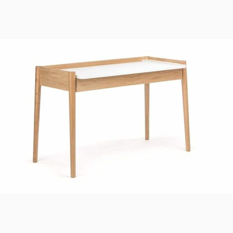 Feldbach kirjoituspöytä, lev.120, syv. 60 ja kork. 79 cm, tammi/valkoinen, Woodman.