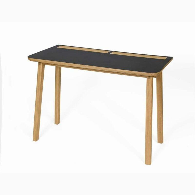 Kota kirjoituspöytä, lev.115, syv.50 ja kork. 75 cm, tammea, Woodman.