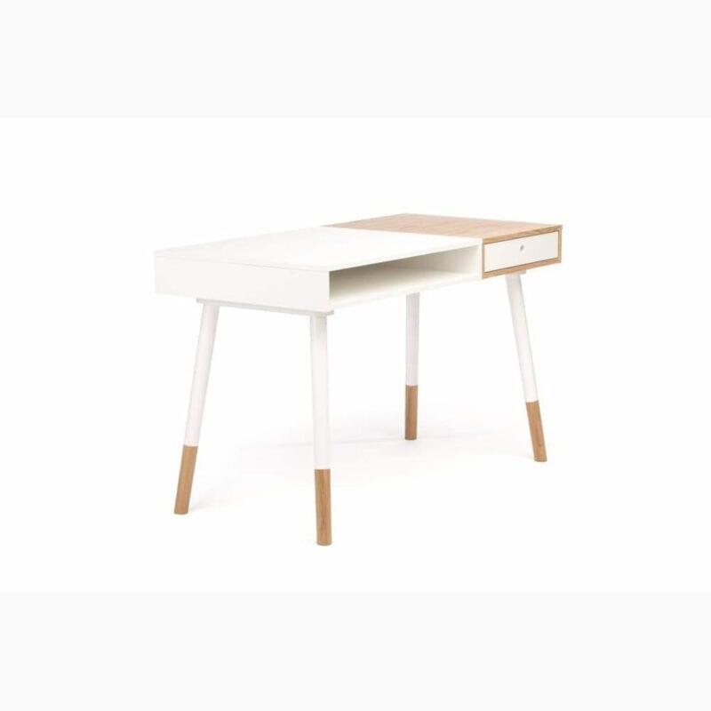 Sonnenblick kirjoituspöytä, lev.120, syv.60 ja kork. 75 cm, tammi/valkoinen, Woodman.