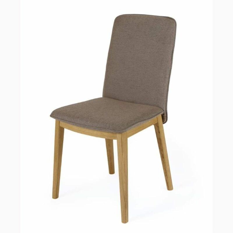 Adra tuoli, ruskea kangas/tammijalat, Woodman.