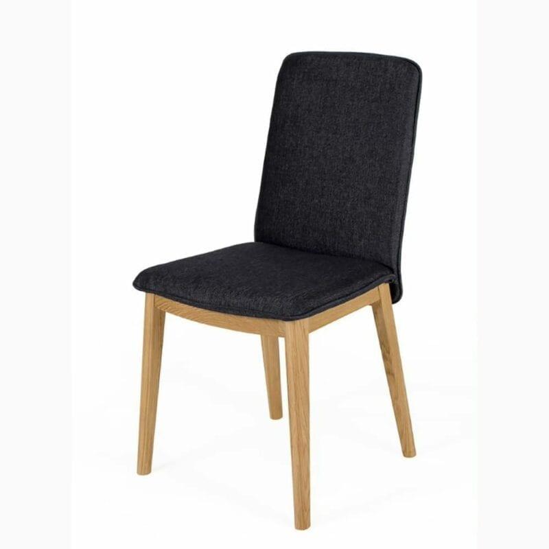 Adra tuoli, harmaa kangas/tammijalat, Woodman.
