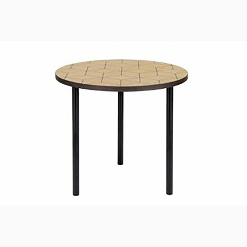 Arty 50 sivupöytä, halk. 50 ja kork. 45 cm, tammi/metallijalat, Woodman, happyhomestore.fi