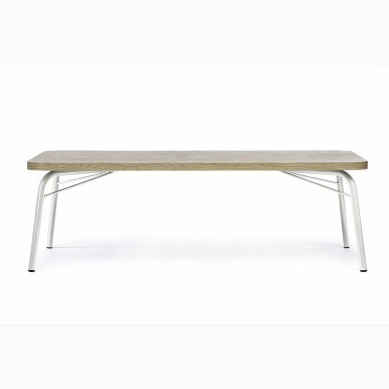 Ashburn sohvapöytä, lev. 125, syv. 65 ja kork. 40 cm, tammi/metallijalat, Woodman, happyhomestore.fi