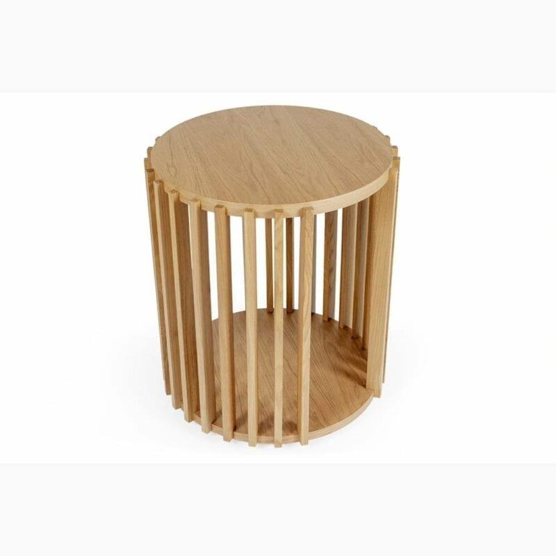 Drum sivupöytä, halk. 53 cm ja kork. 58 cm, tammea, Woodman, happyhomestore.fi