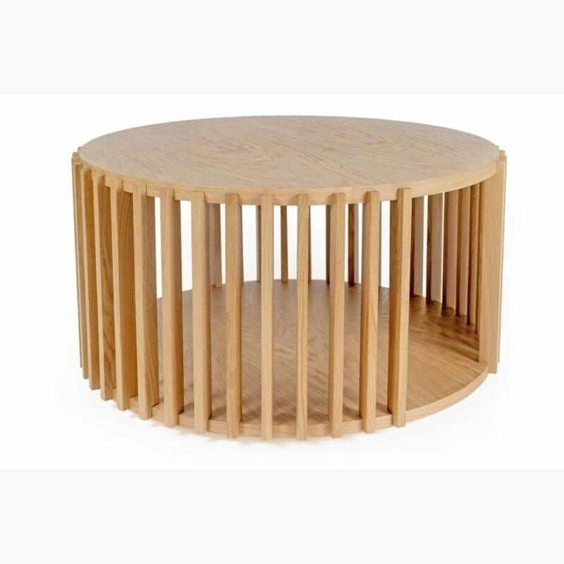 Drum sohvapöytä, halk. 83 ja kork. 42 cm, tammea, Woodman, happyhomestore.fi
