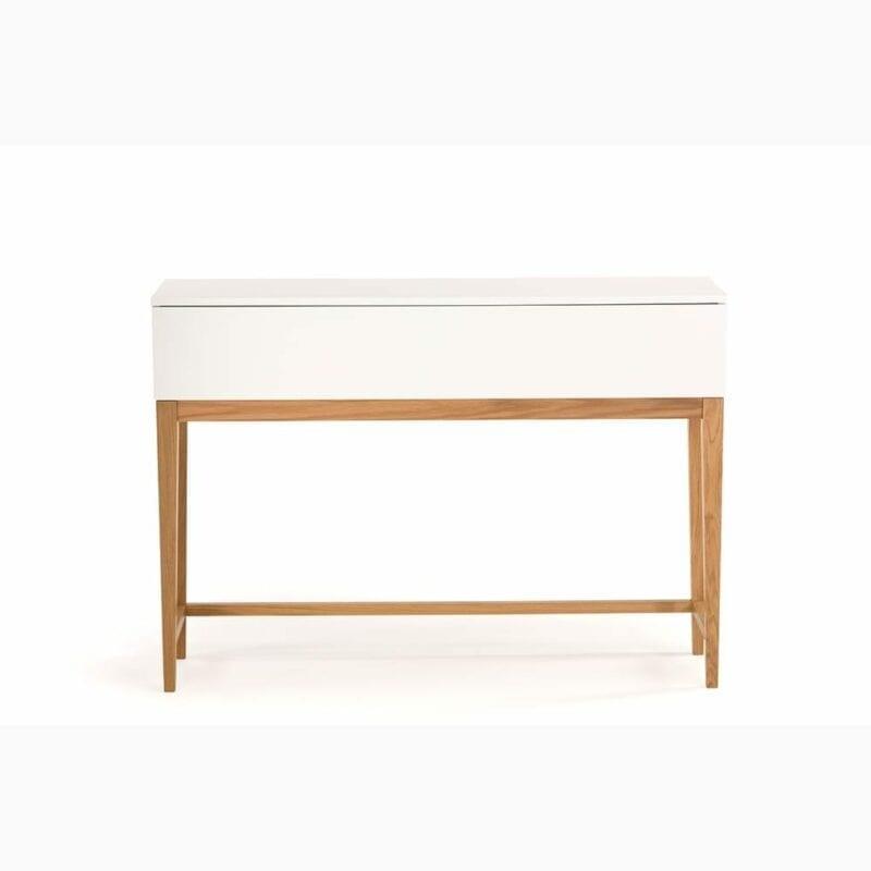 Blanco konsolipöytä, valk./tammi, Woodman.