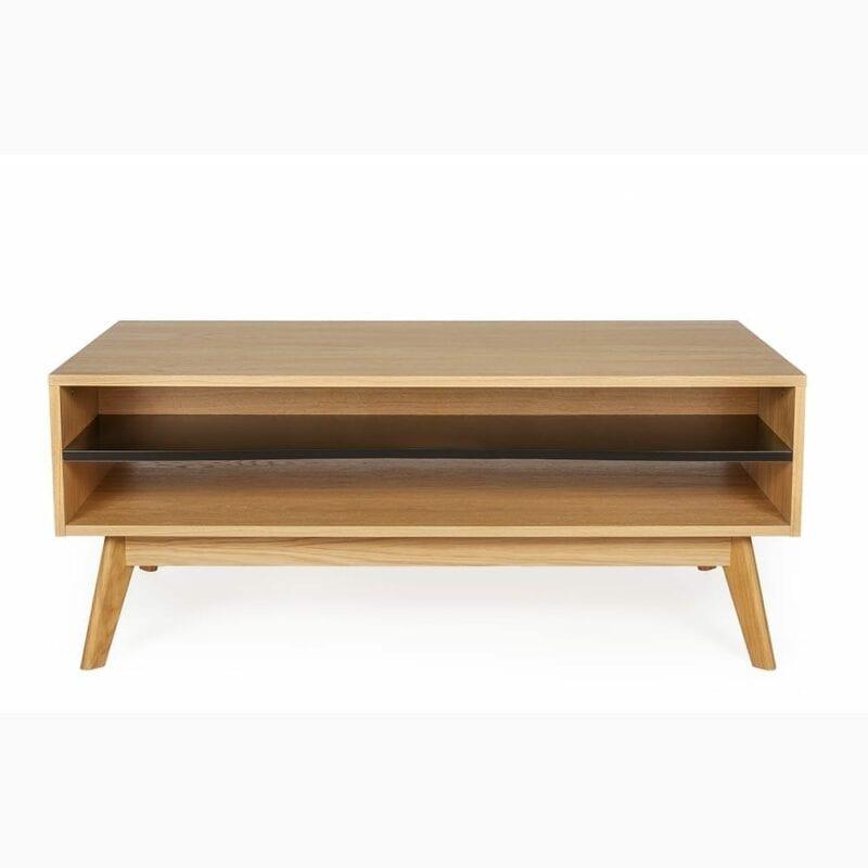 Avon sohvapöytä, 115x65xk.35 cm, tasot tammiviillutettu, jalat tammea, Woodman.