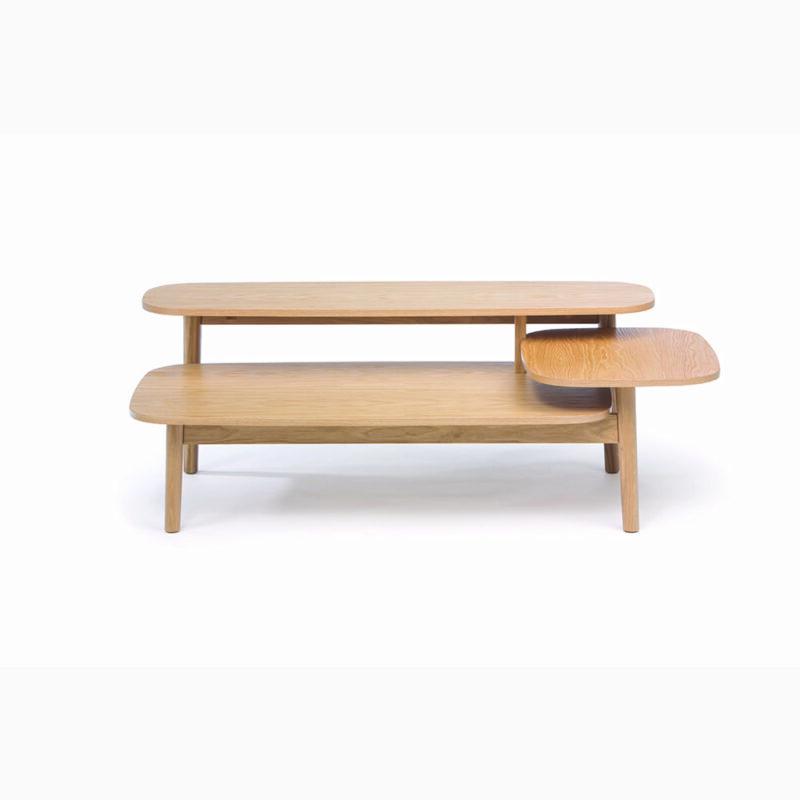 Eichberg sohvapöytä, 120x60xk.42 cm, tasot tammiviilutettu, jalat massiivitammea, Woodman.
