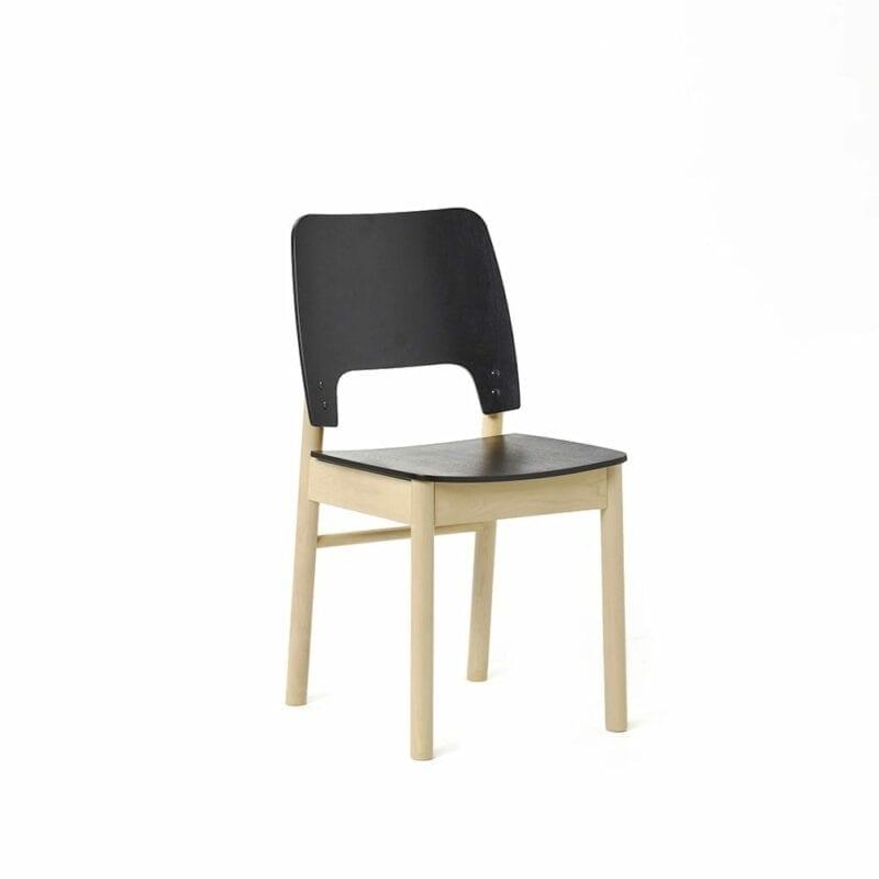 Karpalo -tuoli, koivu/musta, Juha Mäkelä design.