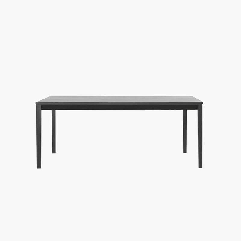 Tainus-pöytä, 180x95 cm, mustaksi petsattua koivua, Juha Mäkelä design.