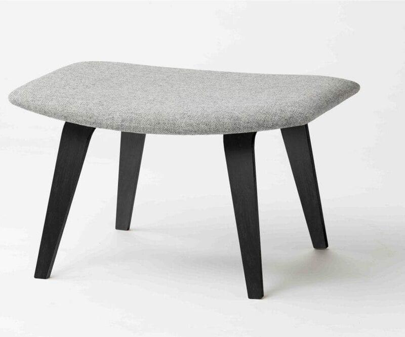 Grasshopper rahi,mustat jalat, harmaa Hallingdal villakangas.. Original Eero Saarinen design.