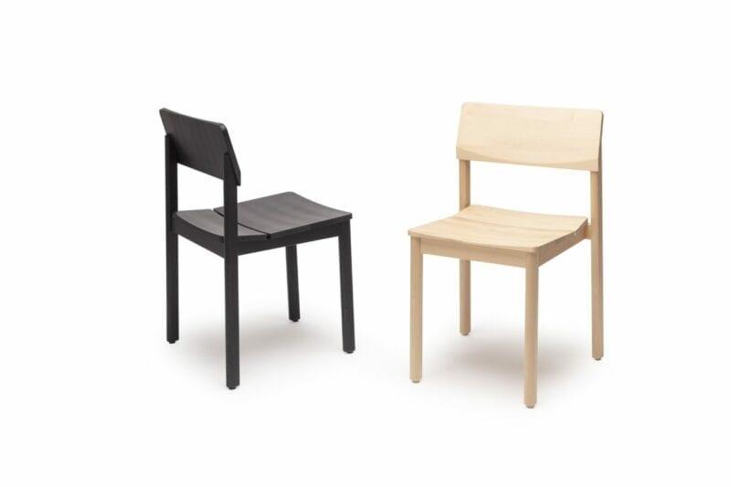 Railo-tuoli, mustaksi petsattua koivua, Juho Pasila design, Puulon Oy.