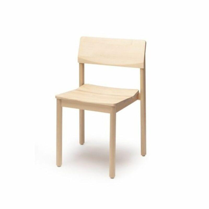 Railo-tuoli, lakattu koivu, Juho Pasila design, Puulon.