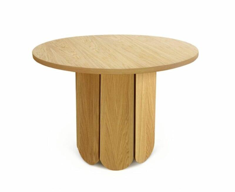 Soft ruokapöytä, halk.98 cm, tammiviilutettua MDF-levyä, Woodman.